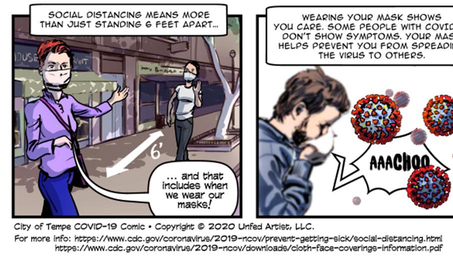 Tempe COVID-19 Comic - Social Distancing
