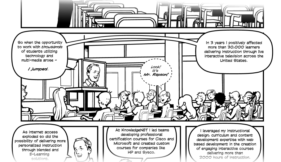 Jay Rapson Career Comic