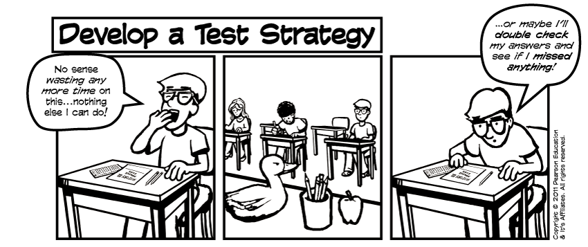 Pearson Education Test Taking Comic • Page 5 (excerpt)